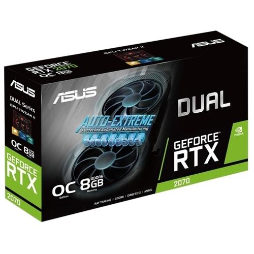 Видеокарта ASUS DUAL GeForce RTX 2070 1410MHz PCI-E 3.0 8192MB 14000MHz 256 bit DVI 2xHDMI 2xDisplayPort HDCP EVO OC