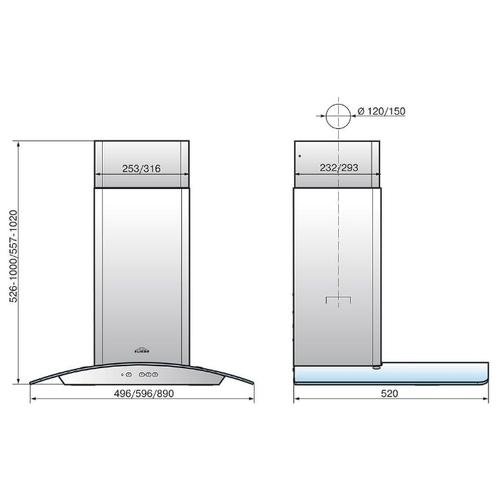 Каминная вытяжка ELIKOR Аметист 60Н-430-К3Д нерж флористика/тонир
