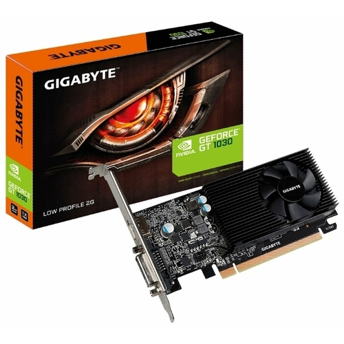 Видеокарта GIGABYTE GeForce GT 1030 1252MHz PCI-E 3.0 2048MB 6008MHz 64 bit DVI HDMI HDCP Low Profile