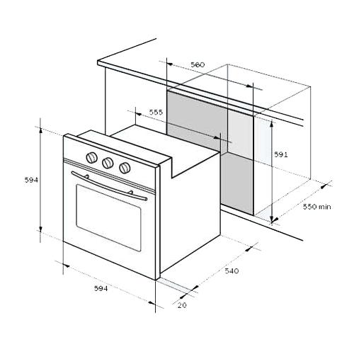 Электрический духовой шкаф De'Longhi CM 9 X