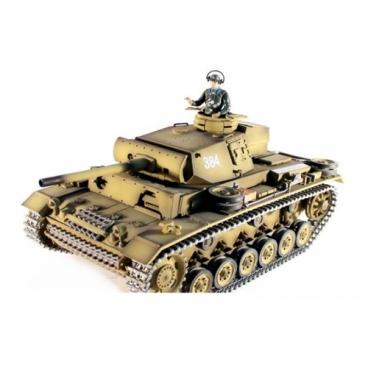 Танк Taigen Panzerkampfwagen III Highest Configure (TG3848-1HC) 1:16 36.5 см