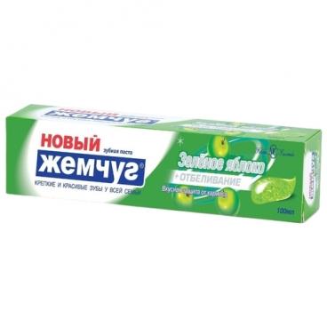 Зубная паста Новый Жемчуг Зеленое яблоко + отбеливание