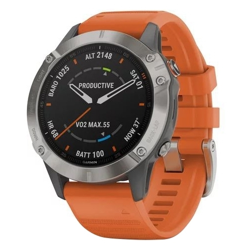 Часы Garmin Fenix 6 Sapphire титановый