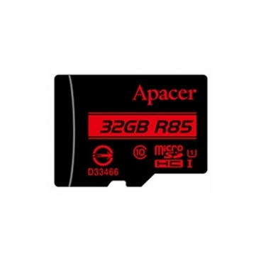 Карта памяти Apacer microSDHC Card Class 10 UHS-I U1 (R85 MB/s) 32GB + SD adapter