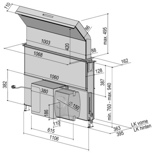 Встраиваемая вытяжка Berbel Moveline BTH 100 ML