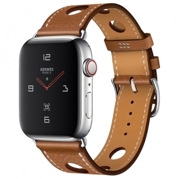 Часы Apple Watch Hermès Series 4 GPS + Cellular 44mm Stainless Steel Case with Leather Single Tour Rallye