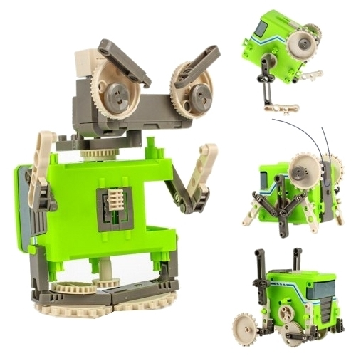 Электромеханический конструктор ND Play На элементах питания 271125 Робот-старикашка 4 в 1