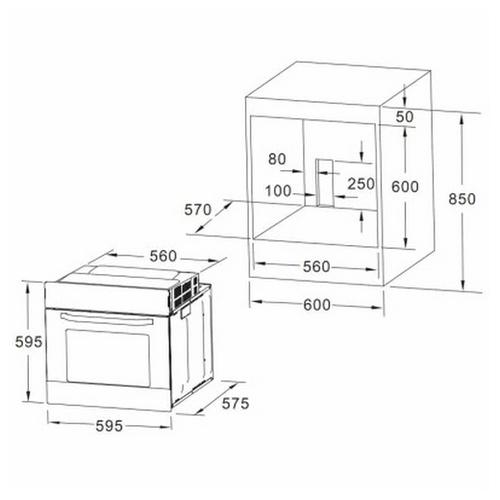 Электрический духовой шкаф AKPO PEA 7009 SED01 IX