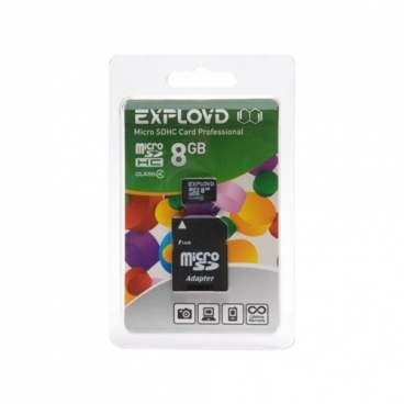Карта памяти EXPLOYD microSDHC Class 4 + SD adapter