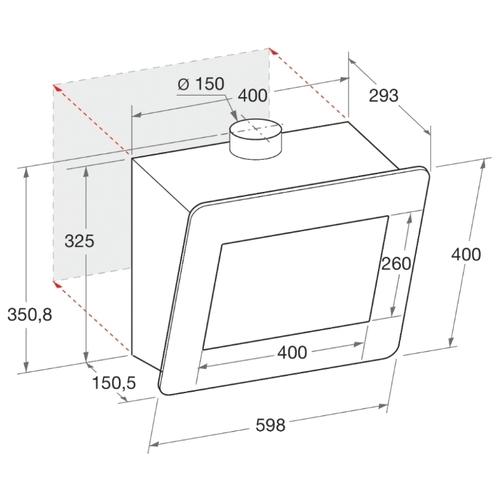 Каминная вытяжка Hotpoint-Ariston HHVP 6.6F LM K