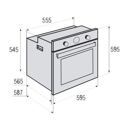Электрический духовой шкаф Zigmund & Shtain EN 113.722 X
