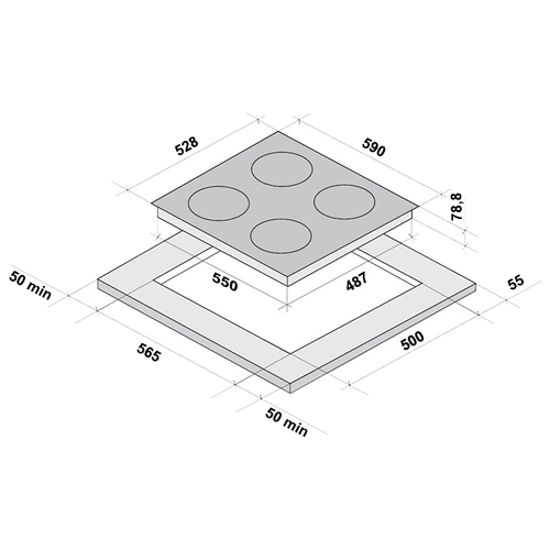 Варочная панель Fornelli PIA 60 Induzione