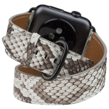 Marcel Robert Ремешок для Apple Watch 42mm ST Double Strap из натуральной кожи питона