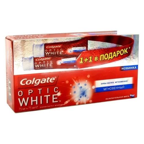 Набор зубных паст Colgate Optic White Мгновенный Ослепительная мята, 2 х 75 мл