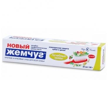 Зубная паста Новый Жемчуг Лечебные травы