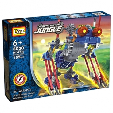 Электромеханический конструктор LOZ Robotic Jungle 3020 Королевская летучая мышь