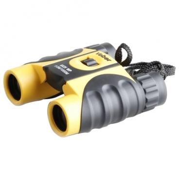 Бинокль Veber 10x25 WP черный-желтый