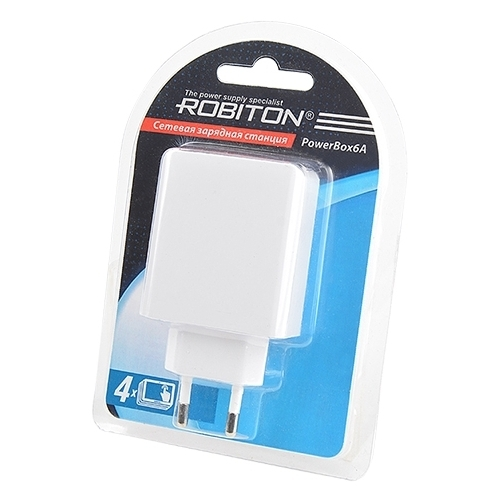 Сетевая зарядка ROBITON PowerBox6A