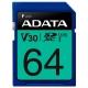 Карта памяти ADATA Premier Pro SDXC UHS-I U3 V30 Class 10 (R100/W80) 64GB