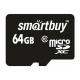 Карта памяти SmartBuy microSDXC Class 10 64GB + SD adapter