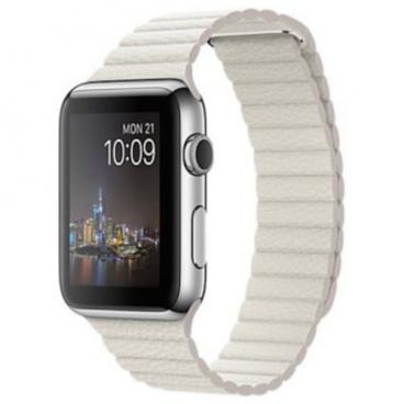 Karmaso Ремешок для Apple Watch 42 мм кожаный белый