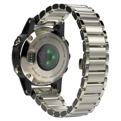 Часы Garmin Fenix 5S Sapphire с металлическим браслетом