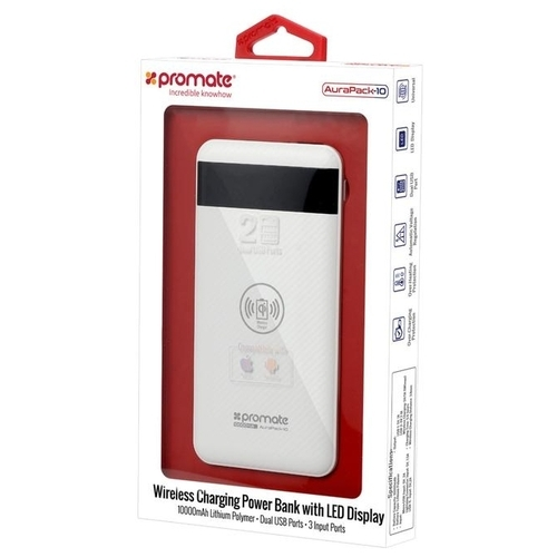 Аккумулятор Promate AuraPack-10, 10000 mAh