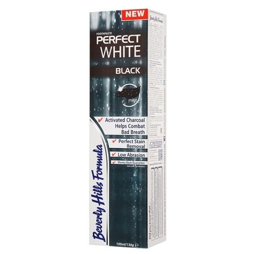 Зубная паста Beverly Hills Formula Perfect White Black fresh mint