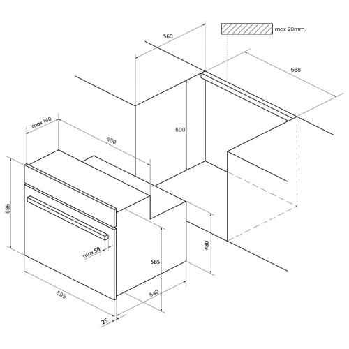 Электрический духовой шкаф Kuppersberg OZ 969 WH