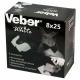 Бинокль Veber 8x25 белый-черный