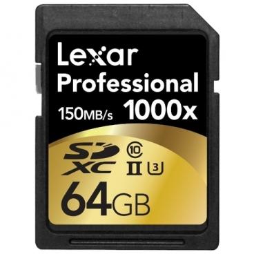 Карта памяти Lexar Professional 1000x SDXC UHS-II 64GB
