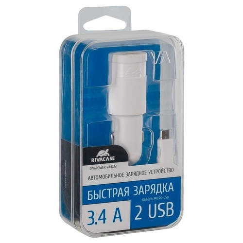 Автомобильная зарядка RIVACASE Rivapower VA4223 + Micro USB