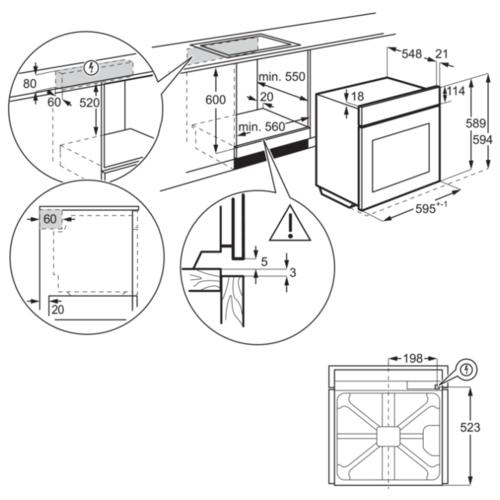 Электрический духовой шкаф Electrolux OED3H50TX