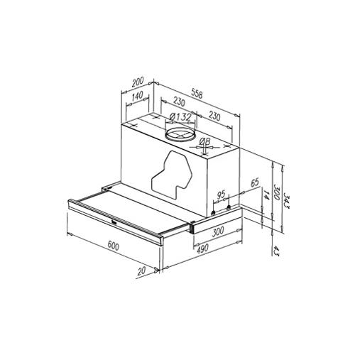 Встраиваемая вытяжка TEKA CNL1-3000 STAINLESS STEEL HP (40436421)