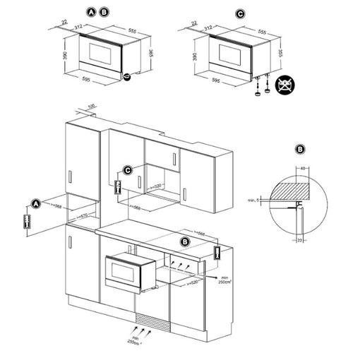 Микроволновая печь встраиваемая TEKA ML 822 BIS L WHITE (40584302)