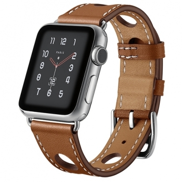 Mokka Ремешок Single Tour Raylle Hermes для Apple Watch 38/40mm