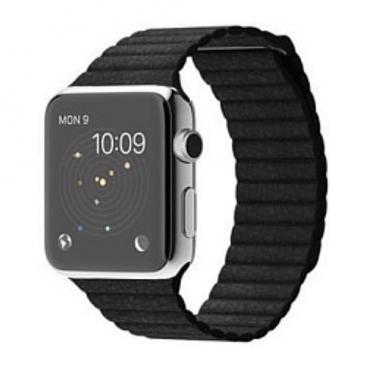 Karmaso Ремешок для Apple Watch 38 мм кожаный черный