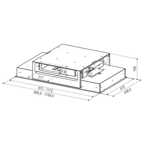 Встраиваемая вытяжка Faber HEAVEN GLASS 2.0 WH Flat A90