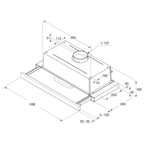 Встраиваемая вытяжка Hotpoint-Ariston HAH 65 F LB X