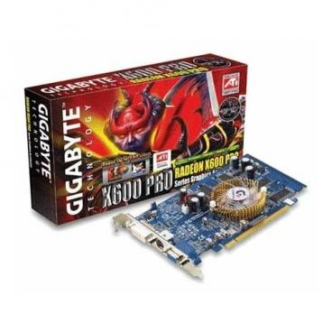Видеокарта GIGABYTE Radeon X600 Pro 400Mhz PCI-E 128Mb 600Mhz 128 bit DVI TV YPrPb