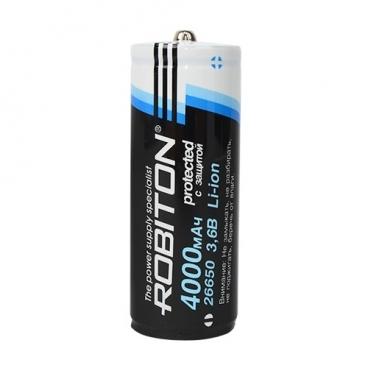 Аккумулятор Li-Ion 4000 мА·ч ROBITON 26650-4000 с защитой