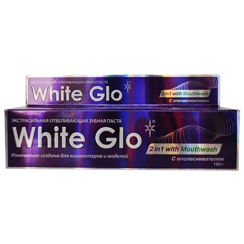 Зубная паста White Glo 2 в 1 с ополаскивателем