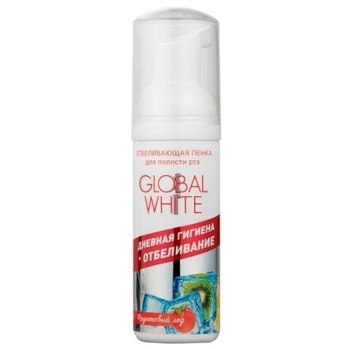 Пенка для зубов Global White Отбеливающая Фруктовый лед