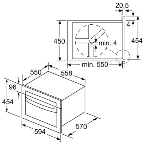 Микроволновая печь встраиваемая Bosch CMA585MS0