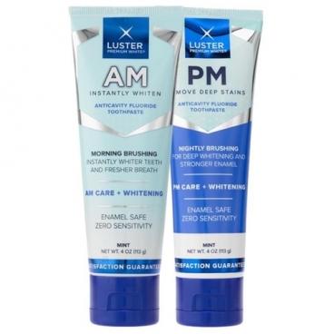 Набор зубных паст Luster Premium White АМ/PM Toothpaste reinvented Отбеливающая система
