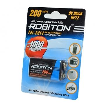 Аккумулятор Ni-Mh 200 мА·ч ROBITON 9V Крона 6F22 200