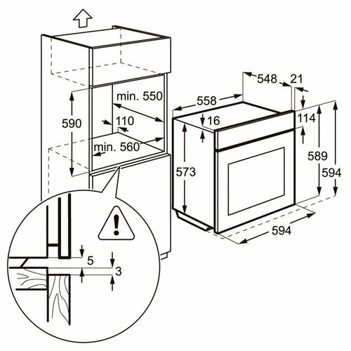 Электрический духовой шкаф Zanussi ZOB 25321 XA