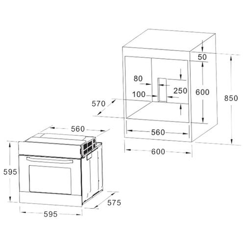 Электрический духовой шкаф AKPO PEA 080 IX