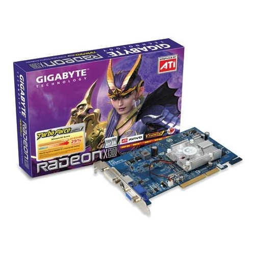 Видеокарта GIGABYTE Radeon X1300 450Mhz AGP 128Mb 500Mhz 64 bit DVI TV YPrPb