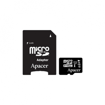 Карта памяти Apacer microSDHC Card Class 10 UHS-I U1 16GB + SD adapter
